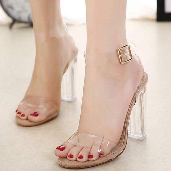 Sandal quai trong 7cm