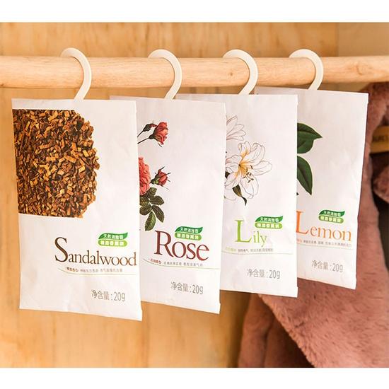 Túi thơm hương thảo mộc kèm sẵn móc treo( 5 gói)
