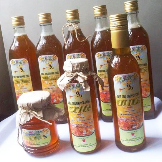 Mật ong nguyên chất hoa nhãn vùng núi Thanh Sơn Phú Thọ 500ml