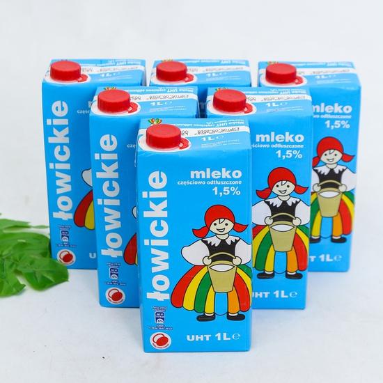 6 hộp sữa tươi tiệt trùng 1,5% chất béo- NK Ba Lan