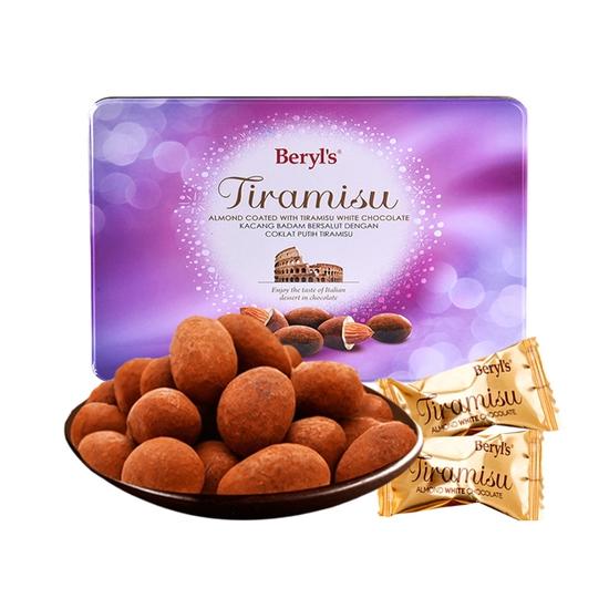 Sôcôla Tiramisu Almond White 200g (hộp thiếc)