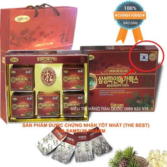 Tinh Dầu Thông Đỏ SamSung Hàn Quốc loại xịn 120 Viên - Loại thải độc, giảm mỡ máu, tốt cho thận và phòng ngừa ung thư hiệu quả cao Tốt