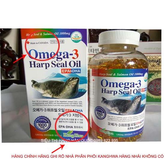 Omega 3 Harp Seal Oil 300 viên từ tinh dầu Hải Cẩu Cao Cấp Tốt