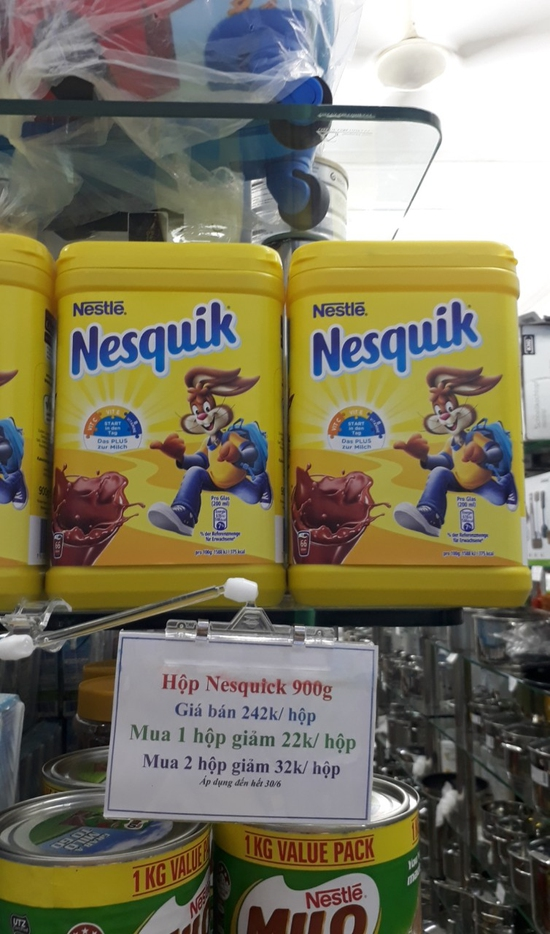 Combo 2 Hộp Bột Cacao Nestle Nesquik 900g/Hộp Pháp Sale 1/6-30/6
