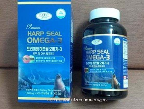 Tinh Dầu Hải Cẩu Harp Seal Omega3 Cao Cấp Hàn Quốc hộp 300 viên  Tốt