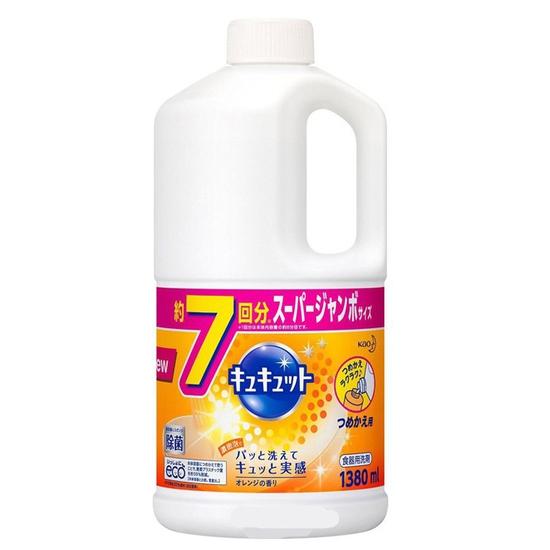 Nước rửa chén đậm đặc Kyukyuto Kao 1380ml Nhật Bản