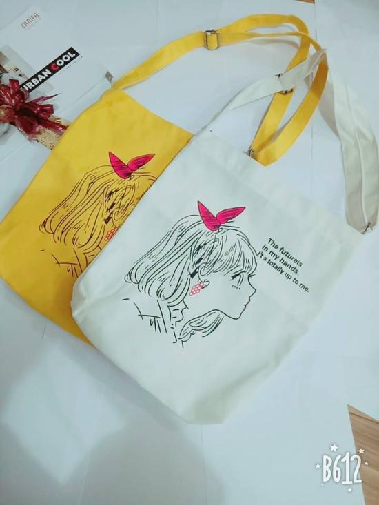 Túi vải in hình siêu yêu