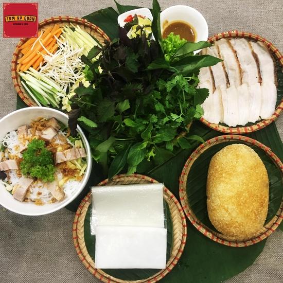 Set Bánh tráng cuốn thịt heo + Gà bó xôi + Bún nêm cho 2 người Nhà hàng Tam Kỳ Quán - Lý Thái Tổ