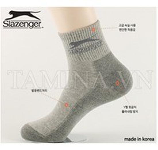 5 đôi tất Hàn Quốc Slazenger (cổ trung)