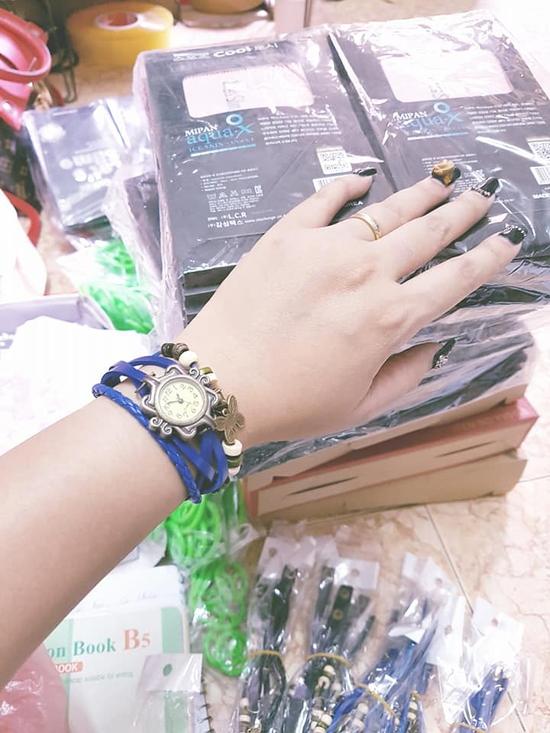 Đồng hồ vòng tay vintage Xanh Dương