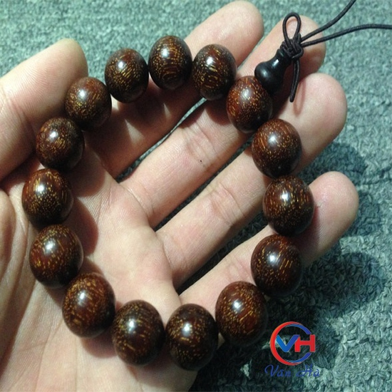 Vòng đeo tay gỗ tử đàn Ấn Độ 15mm