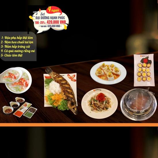 Combo Cá quả nướng riềng mẻ + nhiều món ăn kèm hấp dẫn tại Nhà hàng iSteam