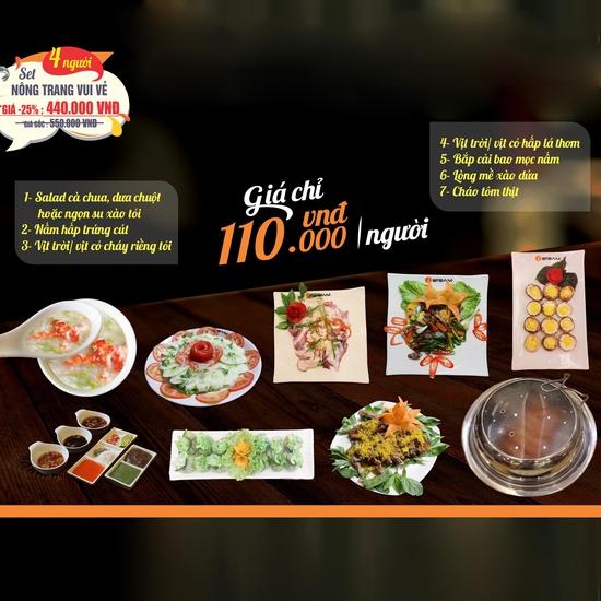 Nông trang vui vẻ: Thưởng thức đặc sản Vịt trời cùng nhiều món hấp dẫn cho 4 người Nhà hàng iSteam