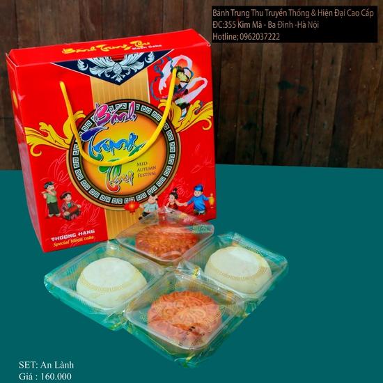 Bánh Trung Thu Cao cấp Bình Chung - Set 4 bánh Trung thu truyền thống An Lành