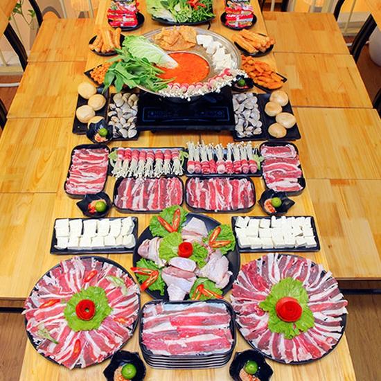 Ăn thả ga buffet lẩu bò Mỹ + nhiều món ăn kèm tại Buffet Ngon 38 Ngọc Khánh