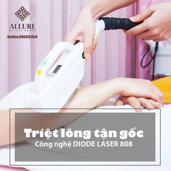 Triệt lông công nghệ Diode Lazer 2018 tại Allure Beauty
