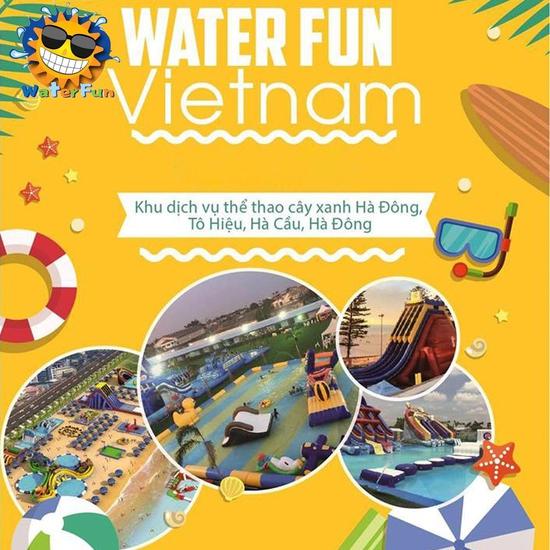 WATER FUN {NL} Vé tham gia tất cả trò chơi tại công viên nước phao đầu tiên lớn nhất tại Việt Nam