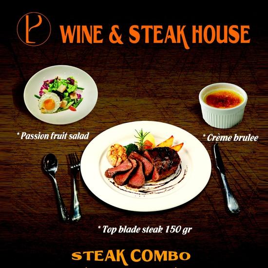 Thưởng thức Steak Combo tại Nhà hàng Wine & Steak House Hồ Tây
