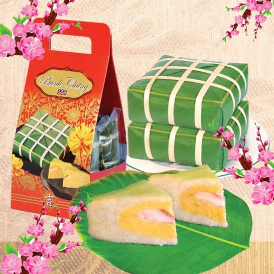Cặp bánh chưng xanh ngày tết - Thực phẩm không thể thiếu trong mâm cỗ ngày tết - Chỉ 25.000đ/ 01 cặp