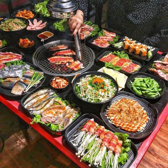 Buffet Nướng thả ga - Menu Nhiều món tại NH Panda BBQ