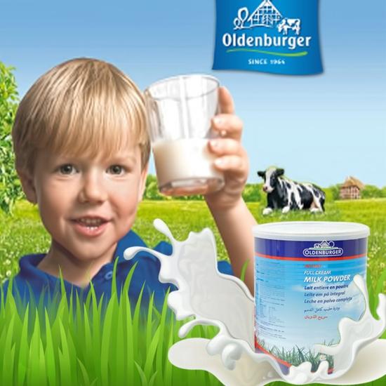 Sữa bột nguyên kem Oldenburger Đức loại 900g