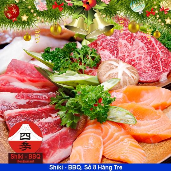Giờ vàng: Buffet nướng & Sushi cao cấp Shiki BBQ