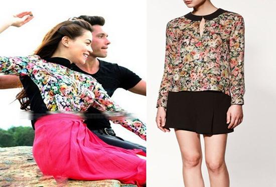 Áo voan hoa tay dài, cổ sen dành cho nữ - xu hướng thời trang mới cho mủa hè năm nay - Chỉ 125.000đ/01 chiếc