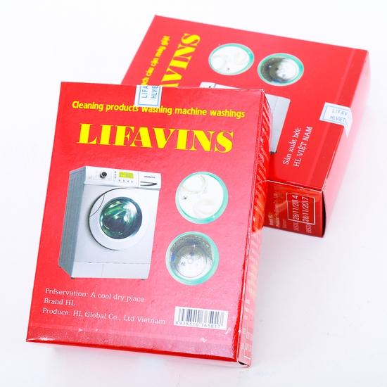 Combo 2 hộp bột tẩy lồng máy giặt Lifavins