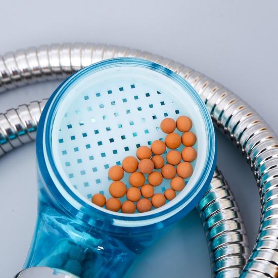 Vòi hoa sen tăng áp hạt nano mầu xanh (kèm dây)