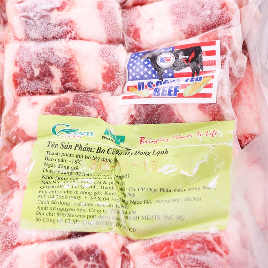 1kg thịt bò ba chỉ - Nhập khẩu Mỹ