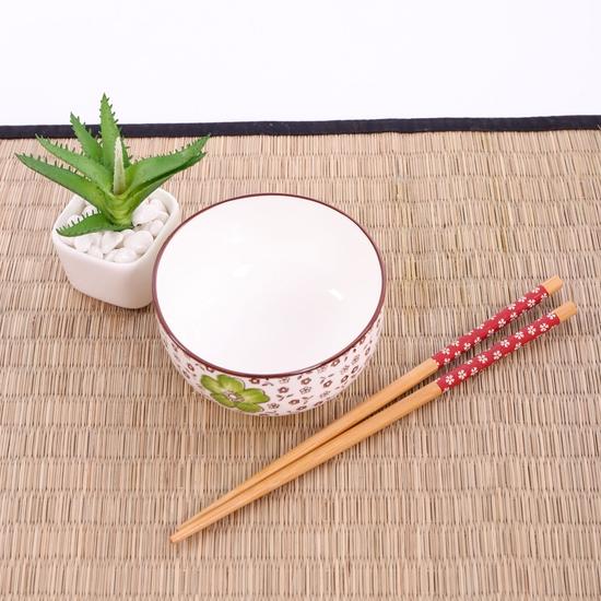 Bộ 6 bát ăn cơm & đũa cao cấp - Hàng xuất Nhật