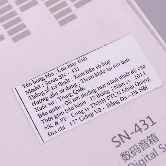 Loa vi tính Senicc SN 431 - Âm thanh sống động