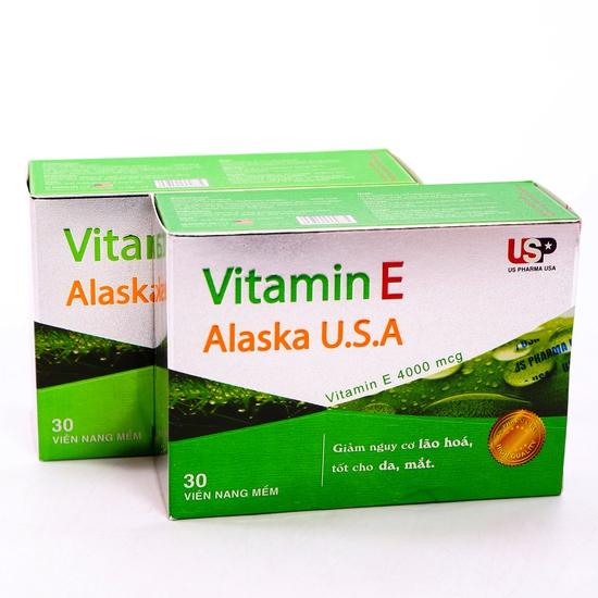 2 hộp Vitamin E Alaska U.S.A chăm sóc sắc đẹp
