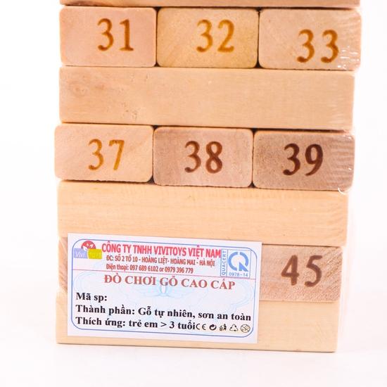Khéo tay, tinh mắt với đồ chơi rút gỗ Vivitoys VN