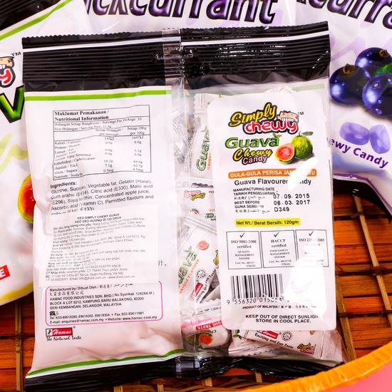 Combo 4 gói kẹo chew hương ổi & nho NK Malaysia