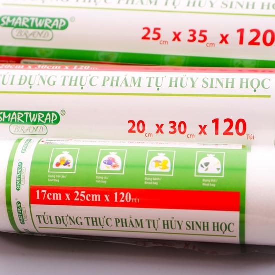 Combo 3 cuộn túi đựng thực phẩm tự hủy sinh học