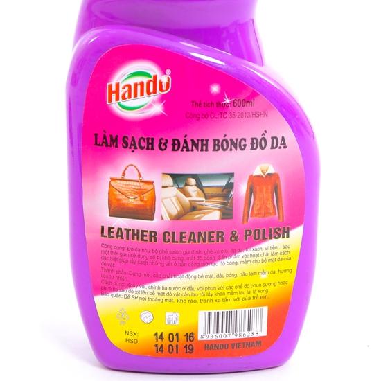 Xịt làm sạch và đánh bóng đồ da Hando