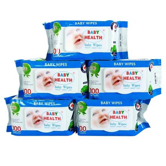 Combo 5 gói khăn ướt Baby Health loại 100 tờ