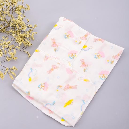 2 khăn tắm sơ sinh họa tiết 4 lớp hàng xuất Nhật