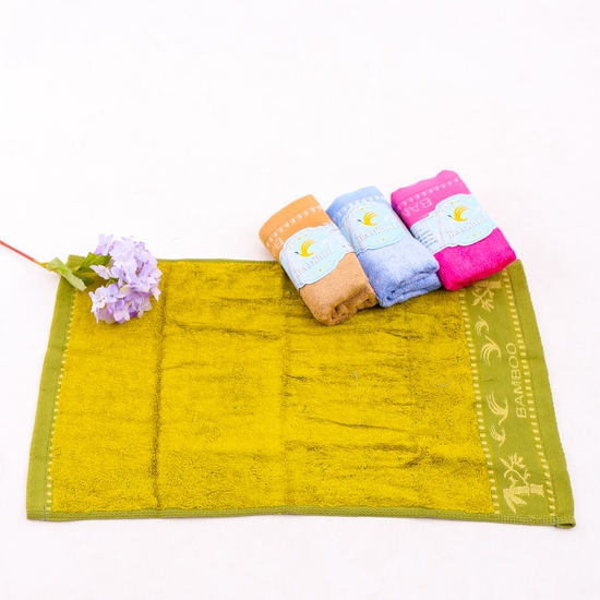 4 khăn mặt Bamboo 100% cotton mềm mại, an toàn
