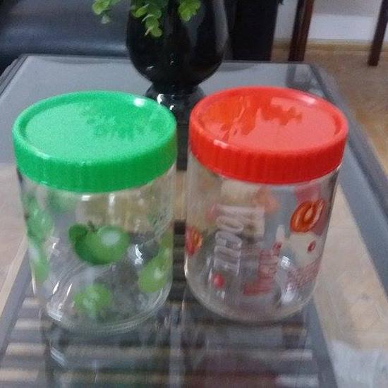 Combo 2 lọ thủy tinh có nắp nhựa 1,2L