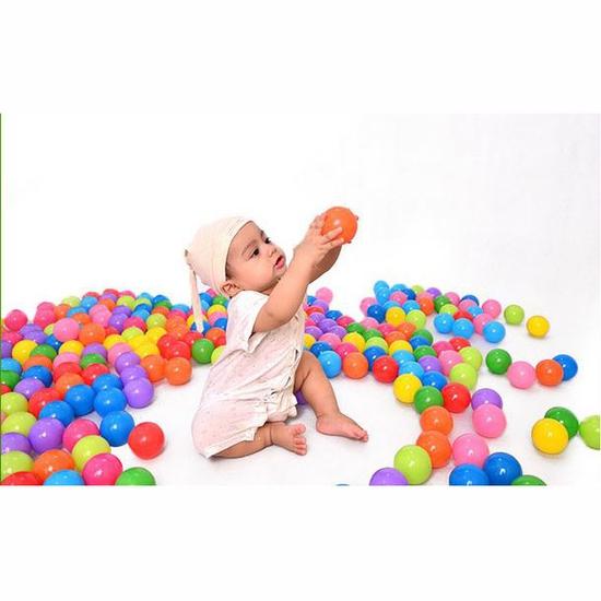 100 bóng nhựa nhiều sắc màu cho bé yêu