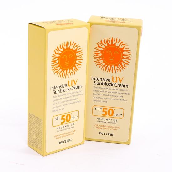2 tuýp kem chống nắng 3W Clinic SPF 50 PA+++ Korea