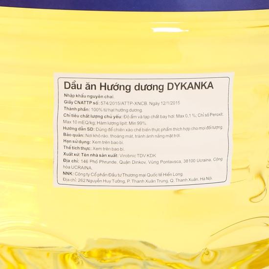5 lít Dầu hướng dương Dykanka tốt cho tim mạch