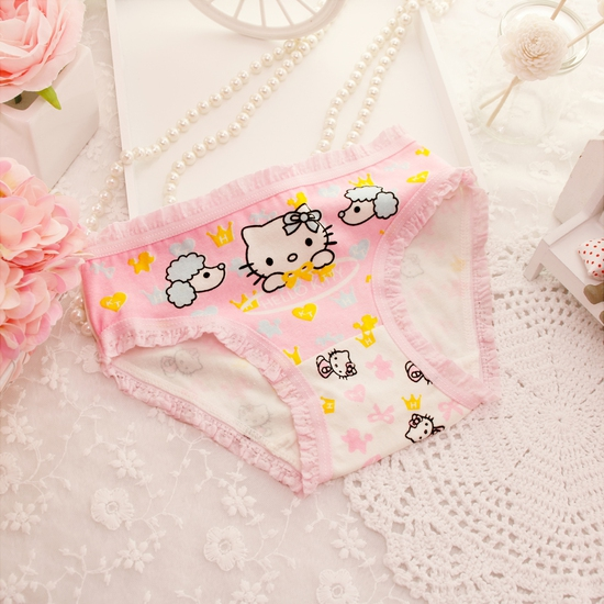 Combo 5 quần chip cotton Hello Kitty cho bé gái