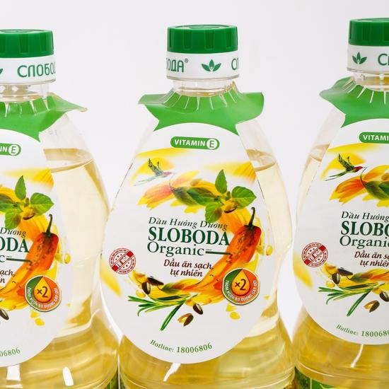 4 chai dầu hướng dương Organic Sloboda - NK Nga