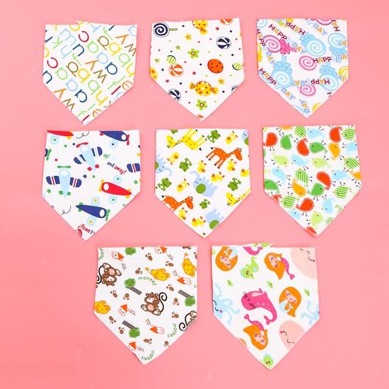 8 khăn yếm tam giác 2 lớp chất cotton mềm mịn