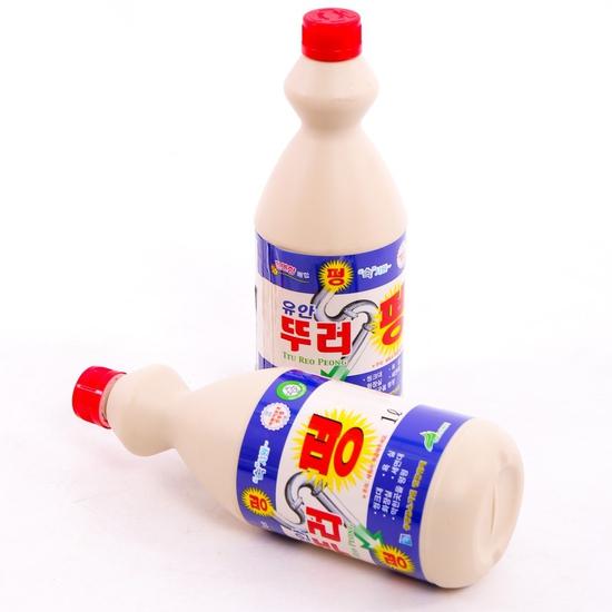 2 chai dung dịch tẩy rửa ống thoát nước Hàn Quốc