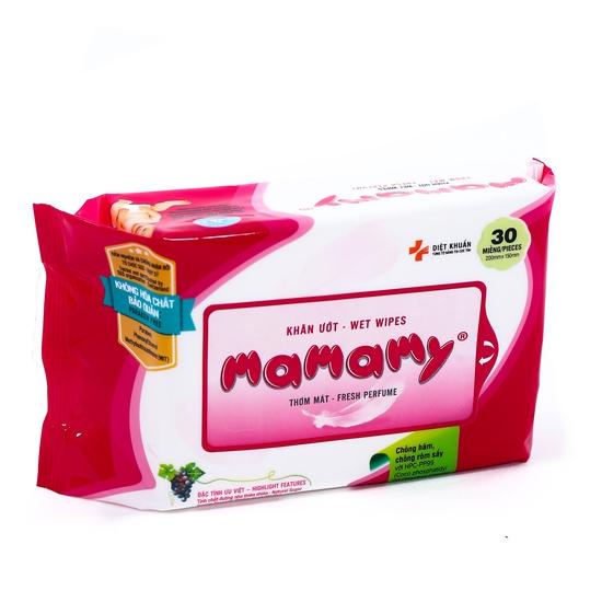 Combo 10 gói khăn ướt Mamamy không hóa chất 30 tờ