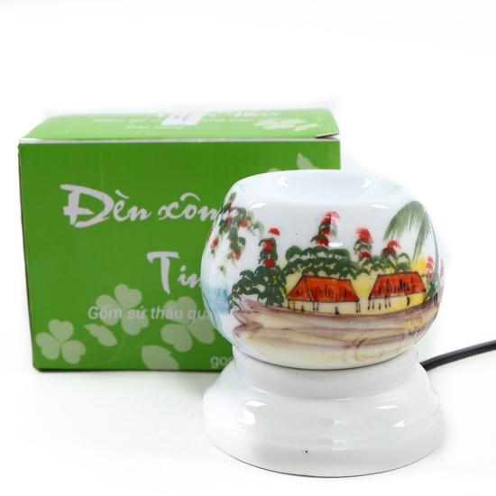Đèn xông tinh dầu cắm điện loại nhỏ- sứ Bát Tràng